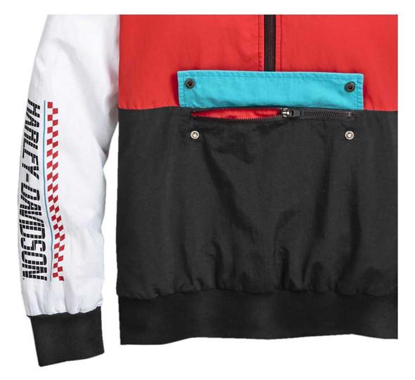 Harley-Davidson Women's Race Sleeve Stripe Pullover Casual Jacket 97430-20VW - Wisconsin Harley-Davidson