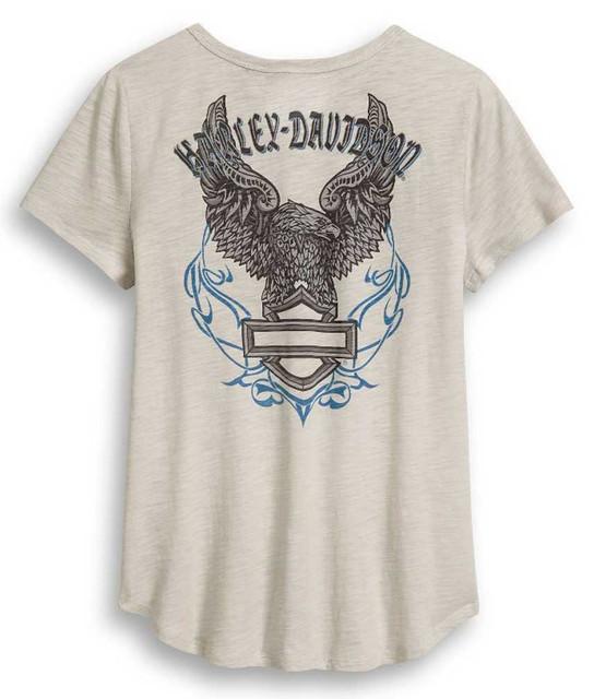Harley-Davidson Women's Logo Pocket Eagle Short Sleeve T-Shirt 96408-20VW - Wisconsin Harley-Davidson