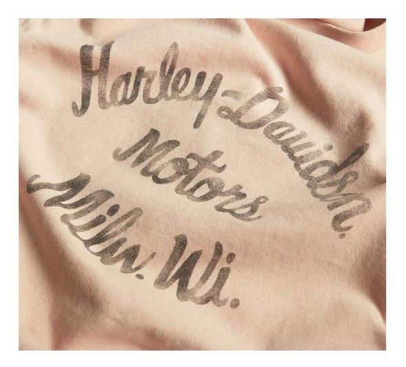 Harley-Davidson Women's Spray Print Sleeveless Tank Top - Pink 96437-20VW - Wisconsin Harley-Davidson