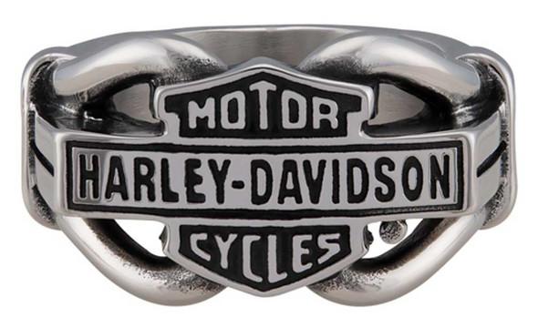 Harley-Davidson Men's Vintage B&S Hardware Ring Band - Stainless Steel, Silver - Wisconsin Harley-Davidson