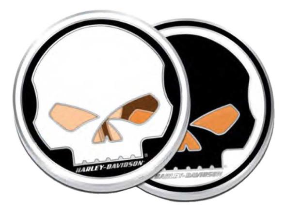 Harley-Davidson Willie G Skull Stained Glass Metal Challenge Coin, 1.75 in. - Wisconsin Harley-Davidson