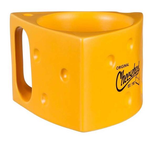 Original Cheesehead Ceramic Cheese Wedge Coffee Mug - Gold, 14 oz. 3AM5070W - Wisconsin Harley-Davidson