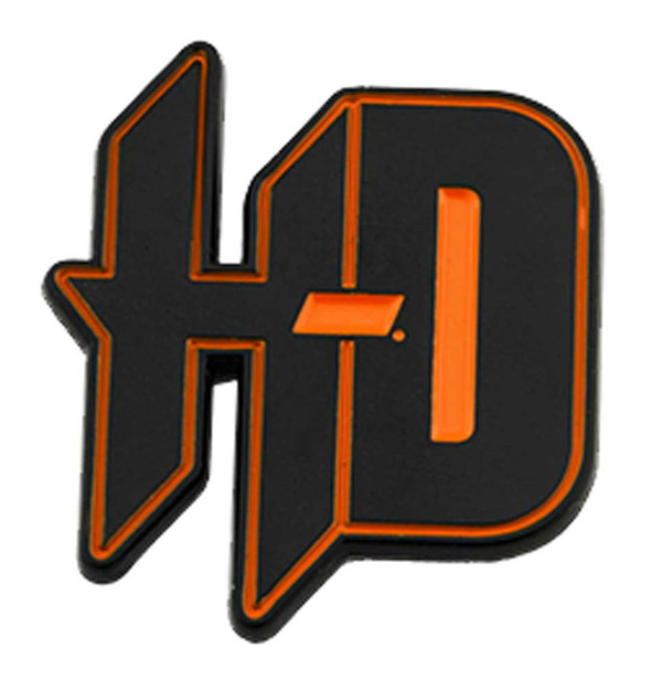 Harley-Davidson 1.25 in. Black & Orange H-D Metal Pin, Shiny Black Finish - Wisconsin Harley-Davidson