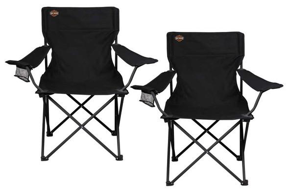 Harley-Davidson Bar & Shield Logo Compact Camping Chairs by Picnic Time Set of 2 - Wisconsin Harley-Davidson