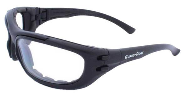 Guard-Dogs Unisex Dustbuster 4 Matte Black FogStopper Goggles - Clear/Smoke - Wisconsin Harley-Davidson