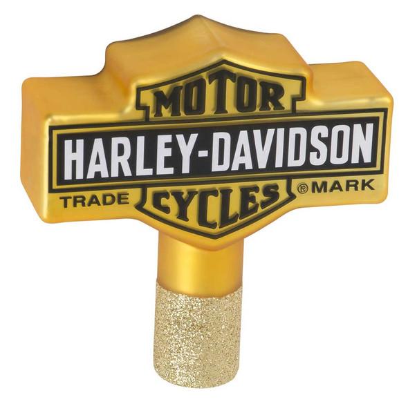 Harley-Davidson Glass Blown Trademark Bar & Shield Logo Tree Topper HDX-99193 - Wisconsin Harley-Davidson