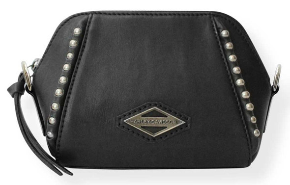 Harley-Davidson Women's Ball & Chain Night Out Leather Crossbody Purse - Black - Wisconsin Harley-Davidson