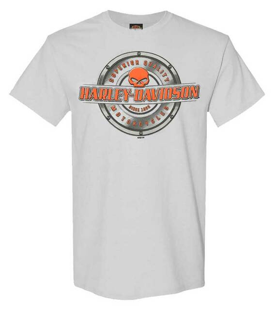 Harley-Davidson Men's Gear Driven Willie G Skull Short Sleeve T-Shirt - Silver - Wisconsin Harley-Davidson