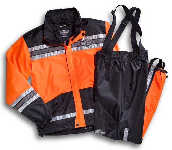 Harley-Davidson Men's Hi-Vis Orange Rain Suit 98155-21VM - Wisconsin Harley-Davidson
