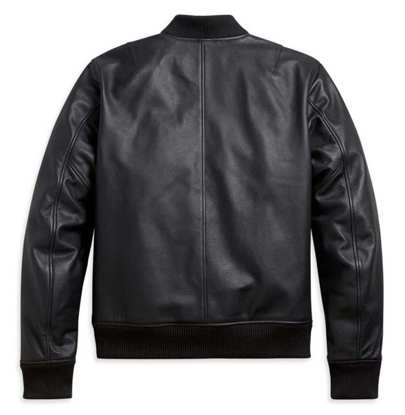 Harley-Davidson Men's Leather Bomber Functional Jacket - Black 97002-21NM - Wisconsin Harley-Davidson