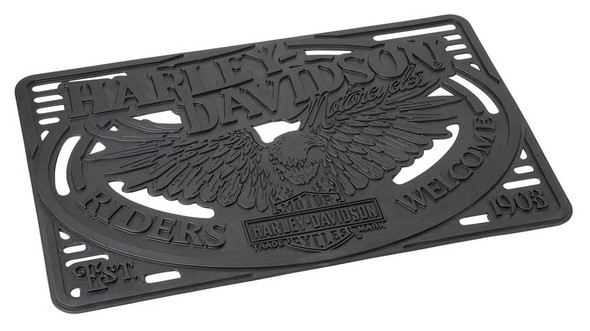 Harley-Davidson Molded Eagle Heavy-Duty Rubber Entry Mat - Black HDL-10072 - Wisconsin Harley-Davidson