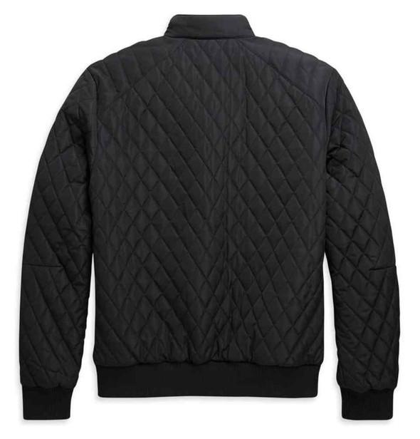 Harley-Davidson Men's Warm Quilted Bomber Casual Jacket - Black 97410-21VM - Wisconsin Harley-Davidson