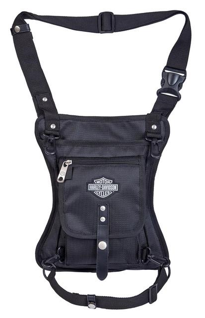 Harley-Davidson Side Slinger 2-IN-1 Shoulder Bag / Leg Holster - 98222-BLACK - Wisconsin Harley-Davidson