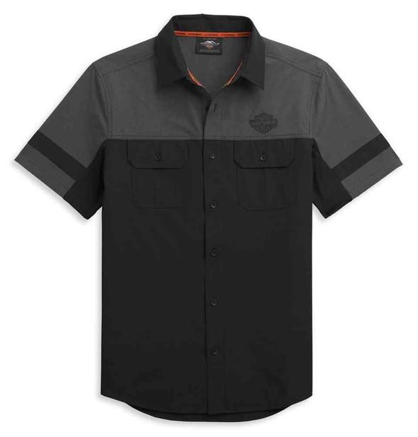 Harley-Davidson Men's Colorblocked Performance Shirt Sleeve Shirt 96317-21VM - Wisconsin Harley-Davidson