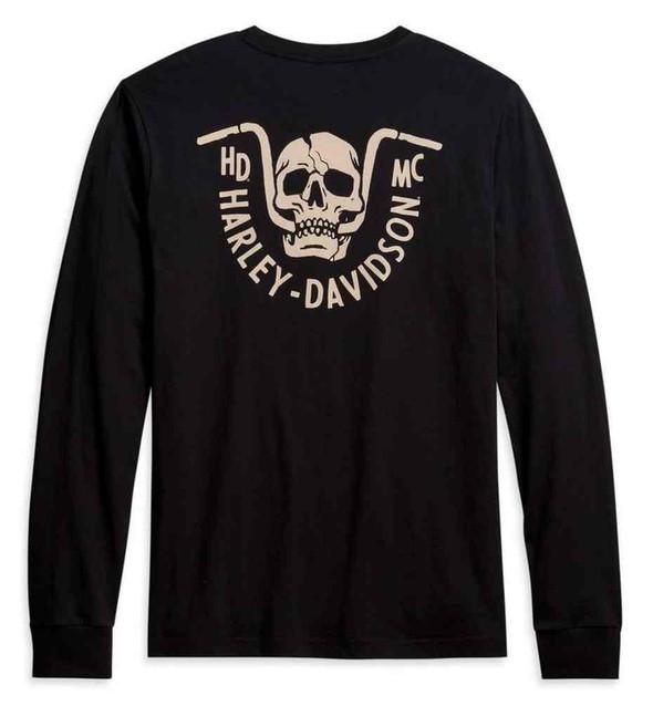 Harley-Davidson Men's Bar Bite Long Sleeve Cotton T-Shirt - Black 96044-21VM - Wisconsin Harley-Davidson