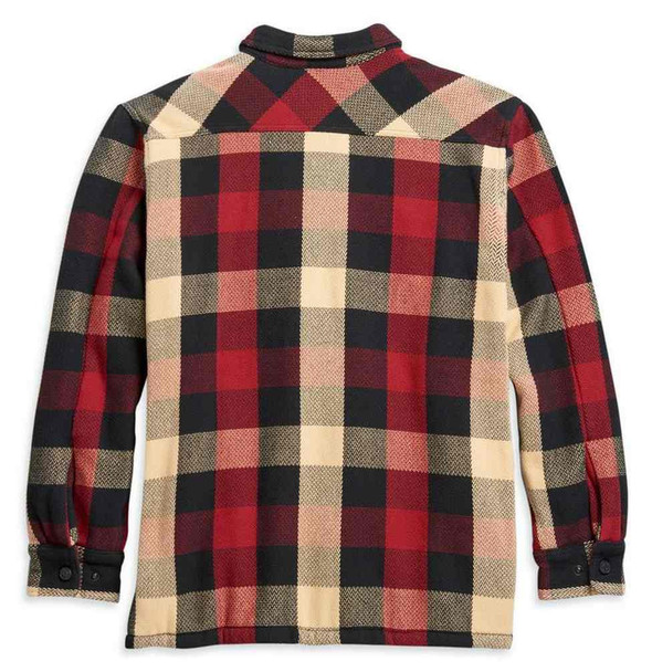 Harley-Davidson Men's Plaid Sherpa Lined Cotton Shirt Jacket 96118-21VM - Wisconsin Harley-Davidson
