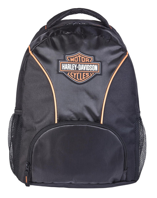Harley-Davidson Bar & Shield Logo Patch Backpack - Black or Silver/Black 90817 - Wisconsin Harley-Davidson