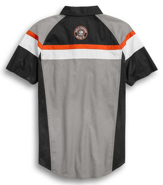 Harley-Davidson Men's Performance Mesh Side Colorblocked Shirt 96376-20VM - Wisconsin Harley-Davidson