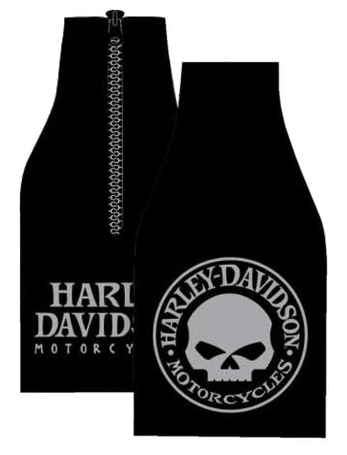 Harley-Davidson Willie G Skull Neoprene Zippered Bottle Wrap - Black BZ119930 - Wisconsin Harley-Davidson