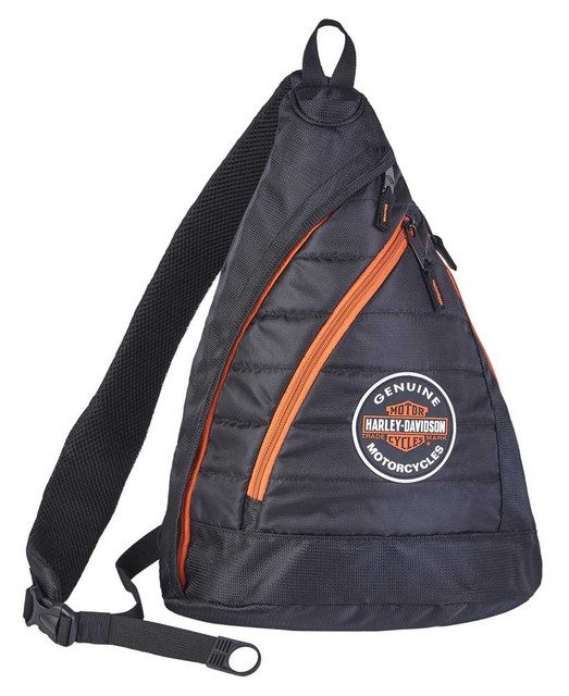 Harley-Davidson Bar & Shield Quilted Travel Sling Backpack w/ Luggage Strap - Wisconsin Harley-Davidson