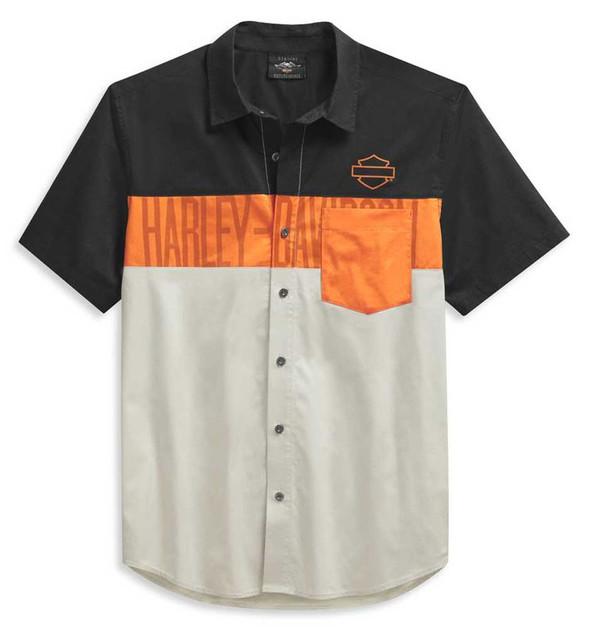 Harley-Davidson Men's Colorblock Pocket Logo Short Sleeve Shirt 99028-21VM - Wisconsin Harley-Davidson