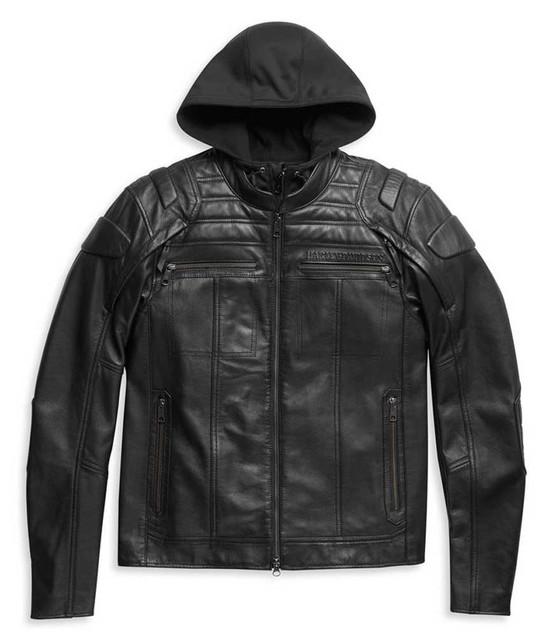 Harley-Davidson Men's Auroral II 3-IN-1 Midweight Leather Jacket 98003-21VM - Wisconsin Harley-Davidson