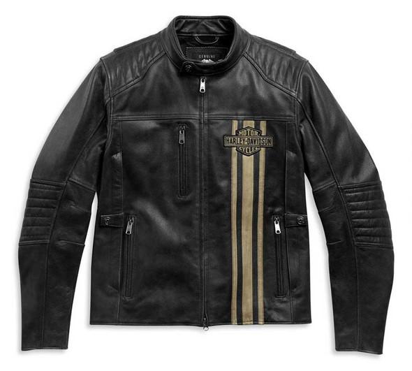 Harley-Davidson Men's H-D Triple Vent Passing Link II Leather Jacket 98005-21VM - Wisconsin Harley-Davidson