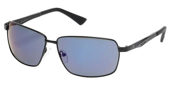 Harley-Davidson Men's Geometric Sport Wrap Sunglasses, Black Frame/Blue Lenses - Wisconsin Harley-Davidson