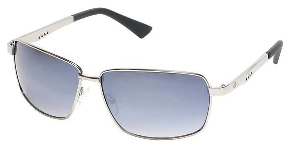 Harley-Davidson Men's Geometric Sport Wrap Sunglasses, Nickel Frame/Smoke Lenses - Wisconsin Harley-Davidson