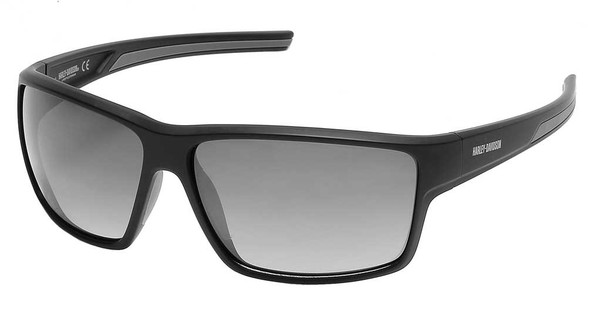 Harley-Davidson Mens Deep Sport Wrap Sunglasses, Black Frame/Smoke Mirror Lenses - Wisconsin Harley-Davidson