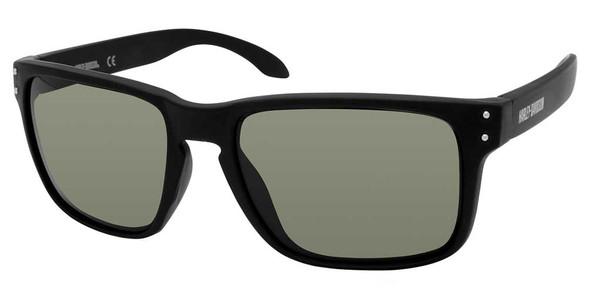 Harley-Davidson Men's Casual Square Frame Sunglasses, Black Frame/Green Lenses - Wisconsin Harley-Davidson