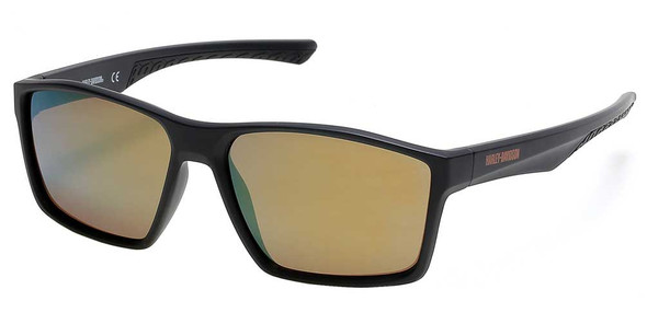 Harley-Davidson Men's Geometric Plastic Sunglasses, Black Frame/Bordeaux Lenses - Wisconsin Harley-Davidson