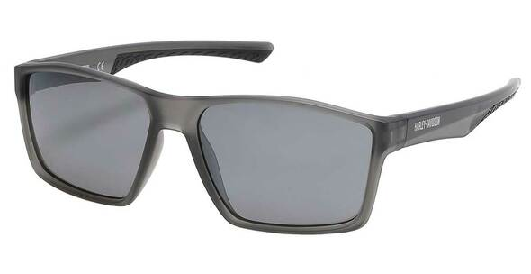 Harley-Davidson Men's Geometric Plastic Sunglasses, Gray Frame/Smoke Mirror Lens - Wisconsin Harley-Davidson