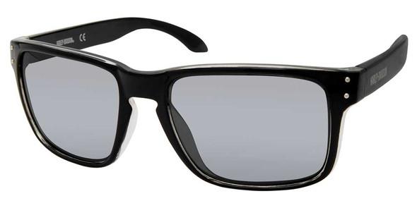 Harley-Davidson Men's Casual Square Frame Sunglasses, Black Frame/Mirror Lenses - Wisconsin Harley-Davidson