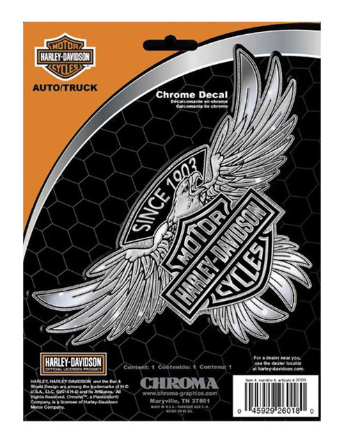 Harley-Davidson Embossed 1903 Bar & Shield Eagle Chrome - Wisconsin Harley-Davidson