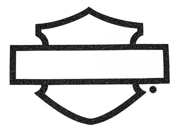 Harley-Davidson Rugged Textured Bar & Shield Logo Decal - Black - 6 x 8 in. - Wisconsin Harley-Davidson