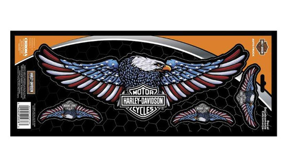 Harley-Davidson Bar & Shield Eagle Premium Rear Window Decals - 6 x 16 in. - Wisconsin Harley-Davidson