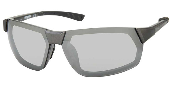 Harley-Davidson Men's Geometric Metal Sunglasses, Gray Frame/Smoke Mirror Lenses - Wisconsin Harley-Davidson