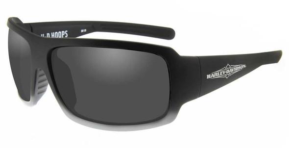 Harley-Davidson Mens Hoops Sunglasses, Smoke Gray Lenses & Matte Gradient Frames - Wisconsin Harley-Davidson