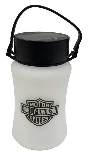Harley-Davidson Bar & Shield Silicone Solar Lantern, Portable & Collapsible - Wisconsin Harley-Davidson