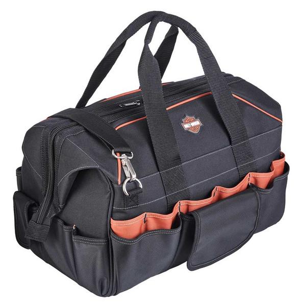 Harley-Davidson 39 Pocket Bar & Shield Logo Industrial Strength Tool Bag - Black - Wisconsin Harley-Davidson