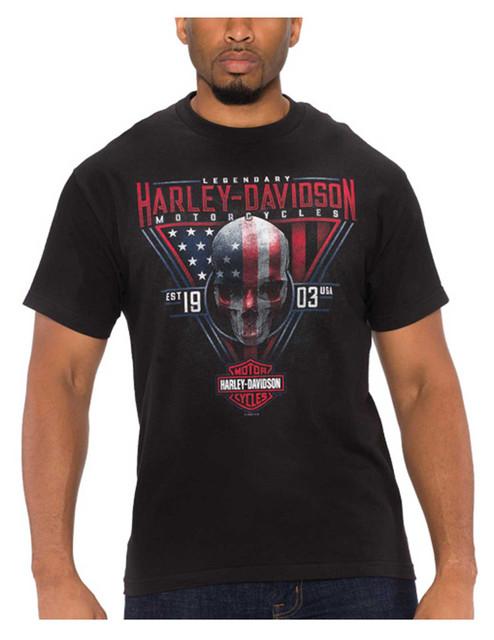 Harley-Davidson Men's Monumental Skull Short Sleeve Crew-Neck T-Shirt, Black - Wisconsin Harley-Davidson
