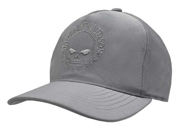 Harley-Davidson Men's Tonal Willie G Skull Logo Snapback Baseball Cap - Gray - Wisconsin Harley-Davidson