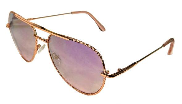Harley-Davidson Women's Metal Aviator Sunglasses, Rose Gold Frame/Mirror Lenses - Wisconsin Harley-Davidson