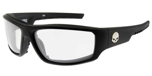 Harley-Davidson Men's Baffle Sunglasses, Clear Lenses & Matte Black Frames - Wisconsin Harley-Davidson