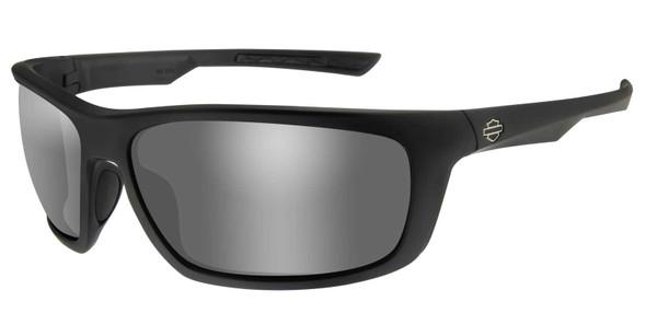 Harley-Davidson Men's Gears Sunglasses, Silver Flash Lenses/Matte Black Frames - Wisconsin Harley-Davidson