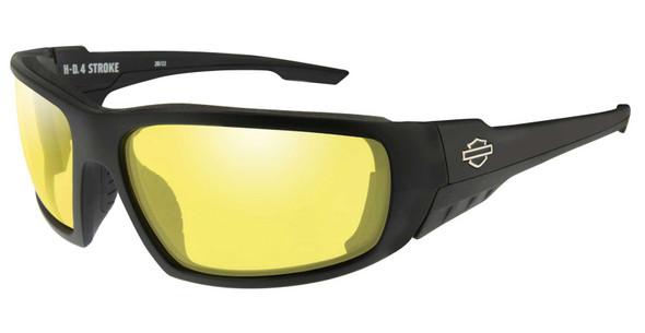 Harley-Davidson Men's 4 Stroke Sunglasses, Yellow Lenses & Matte Black Frames - Wisconsin Harley-Davidson