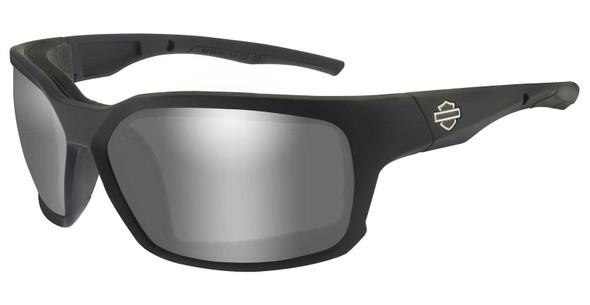 Harley-Davidson Men's COGS Sunglasses, Silver Flash Lenses & Matte Black Frames - Wisconsin Harley-Davidson