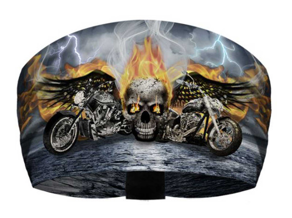 That's A Wrap Unisex Riders on the Storm Ultra-soft Bandana Knotty Band, Black - Wisconsin Harley-Davidson