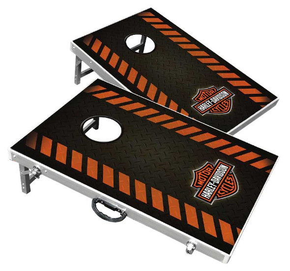 Harley-Davidson Diamond Bar & Shield Bean Bag Toss Yard Game Cornhole Game Board - Wisconsin Harley-Davidson